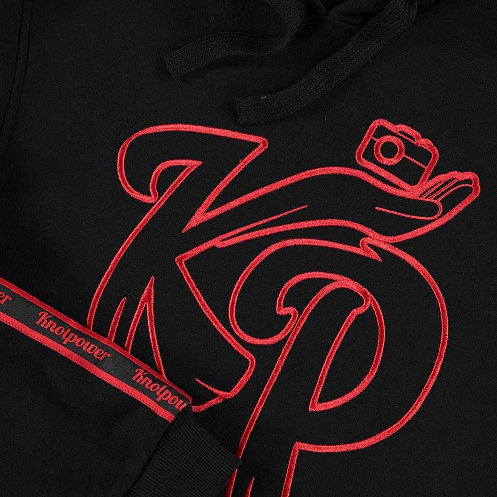 Hoodie outline Zwart | Knolpower