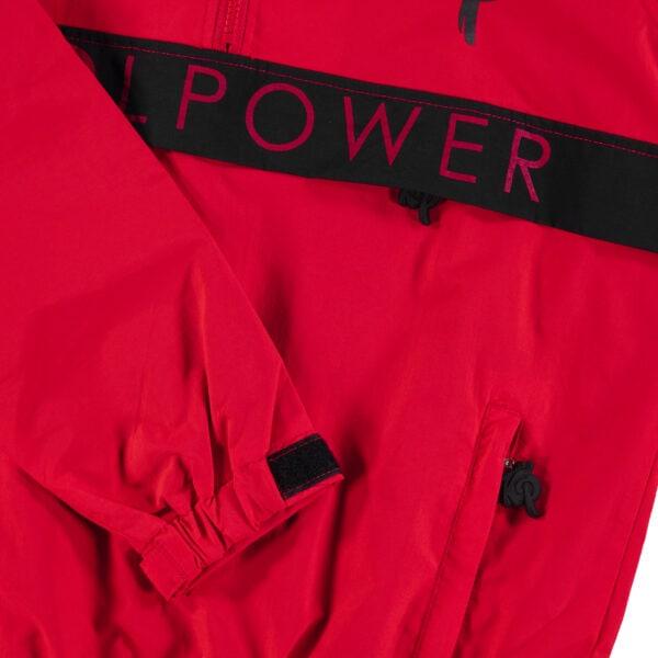 Enzo Knol windbreaker regenjas rood KP logo knolpower webshop